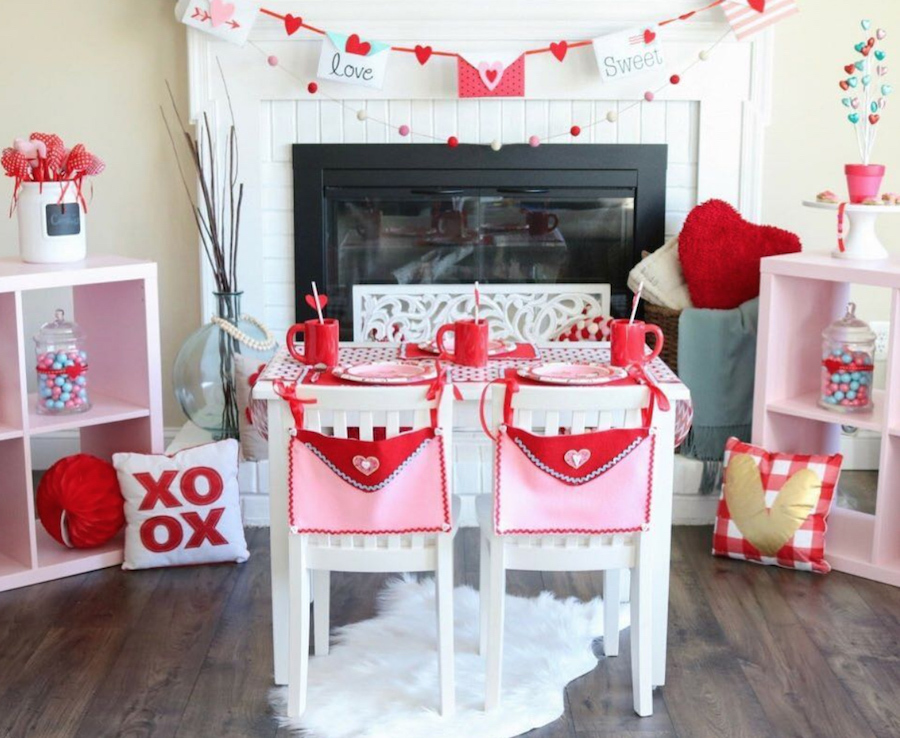 Beautiful way to decorate your home for Valentine's Day